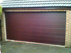 Rosewood Sectional Garador Door (After)