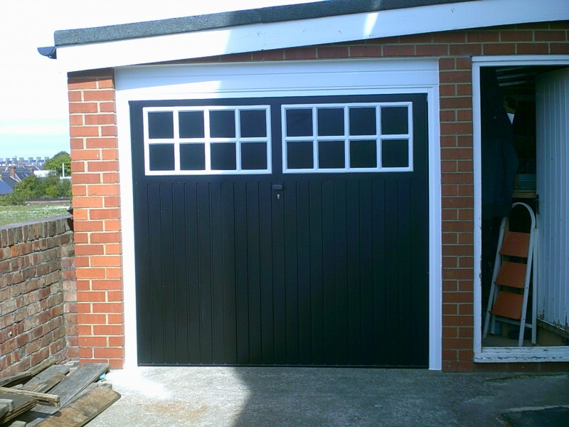 Black Up and Over Garage Door (After)
