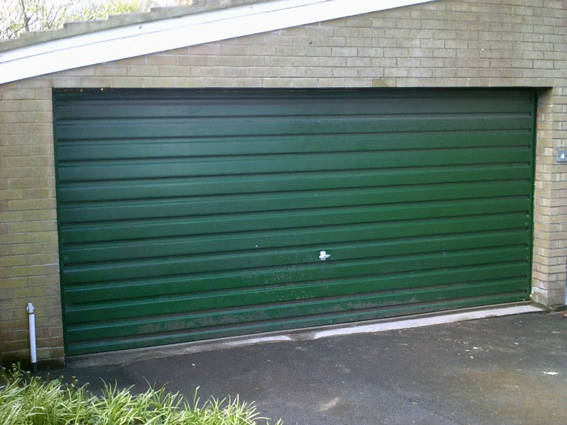 Grey Insulated Sectional Door (Before)