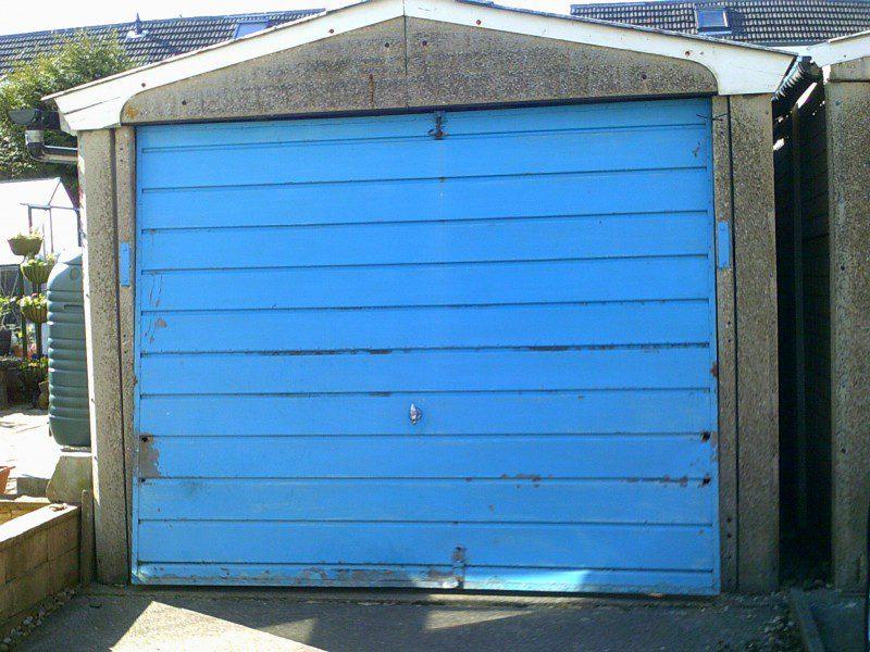 Side Hinged Garage Door (Before)