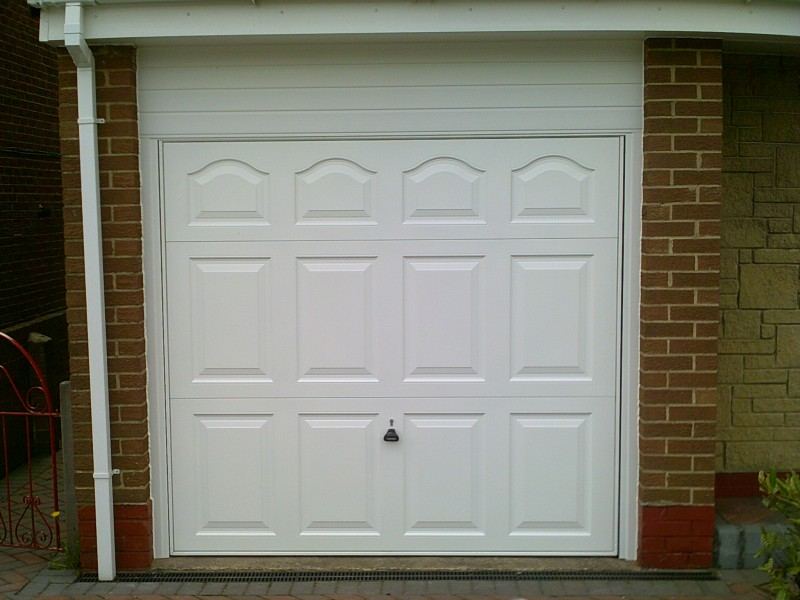 Cathedral Style Up and Over Garage Door (After)