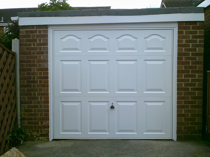 White Cathedral Up & Over Garage Door (After)
