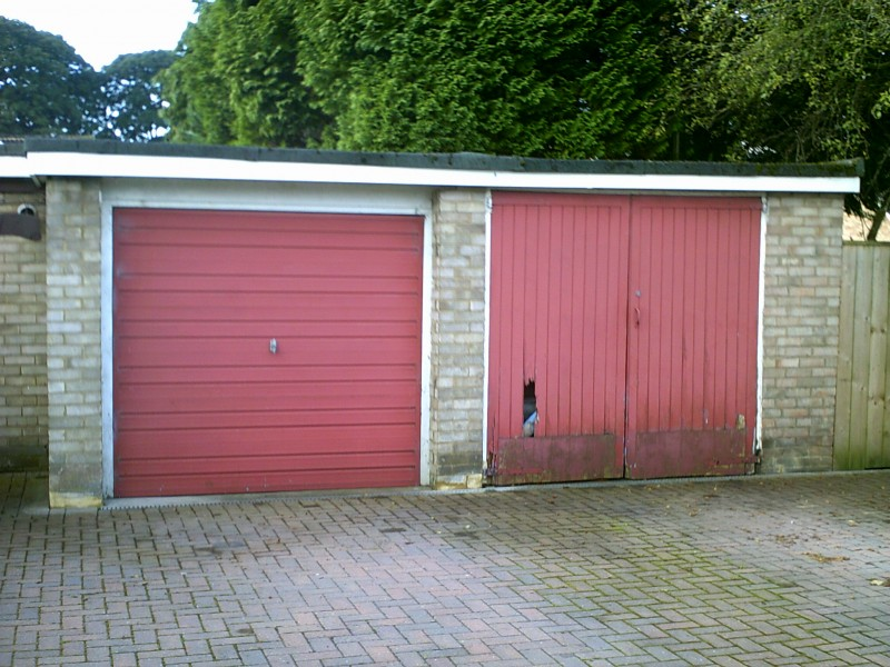 Externally Fit Insulated Roller Door (Before)
