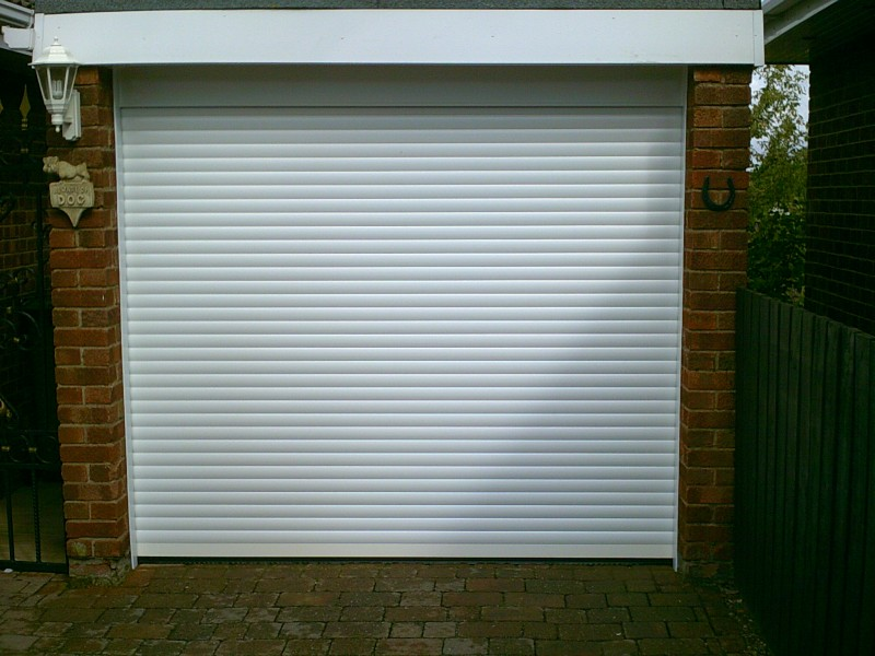 White Insulated Roller Door (After)