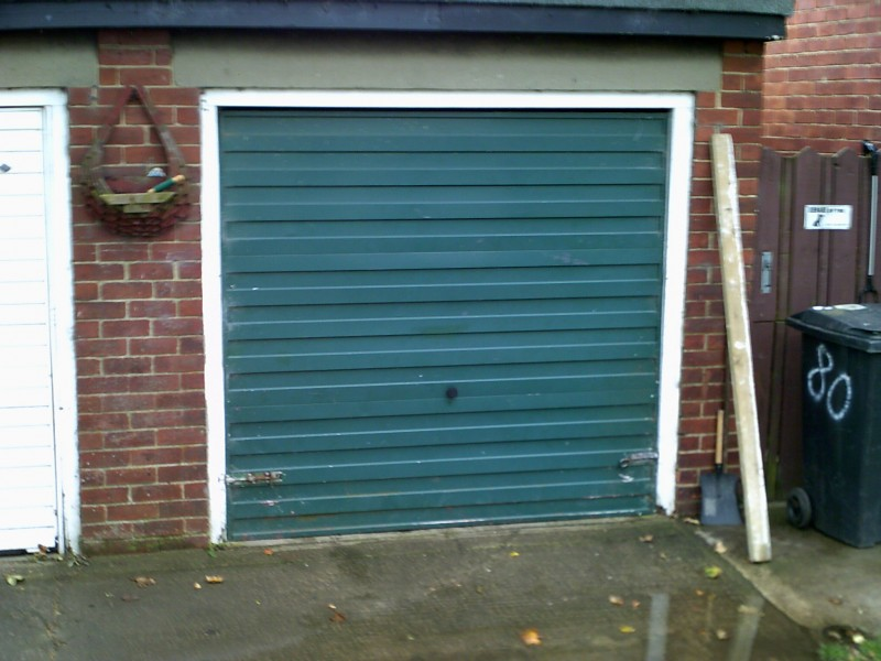 White Up and Over Horizon Garage Door (Before)