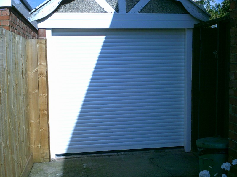 White Seceuroglide Insulated Garage Door (After)