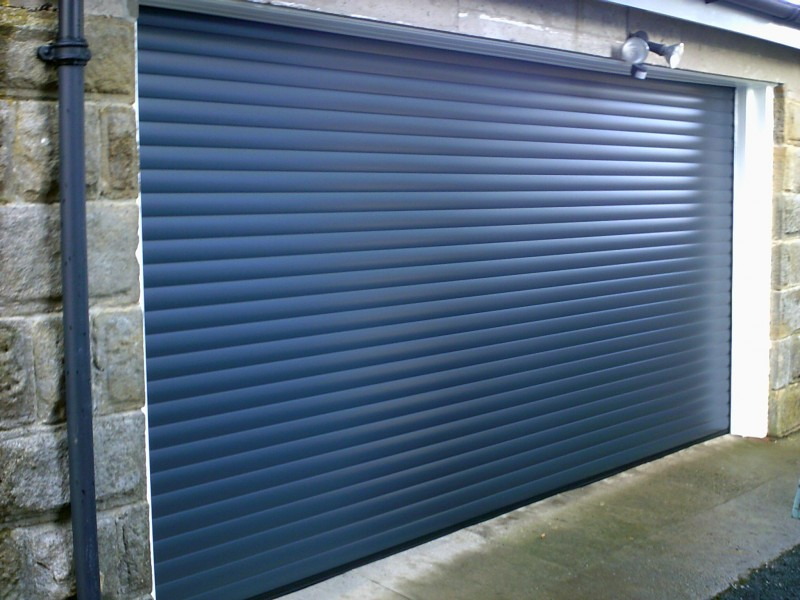 Blue Seceuroglide Remote Control Insulated Roller Garage Door (After)