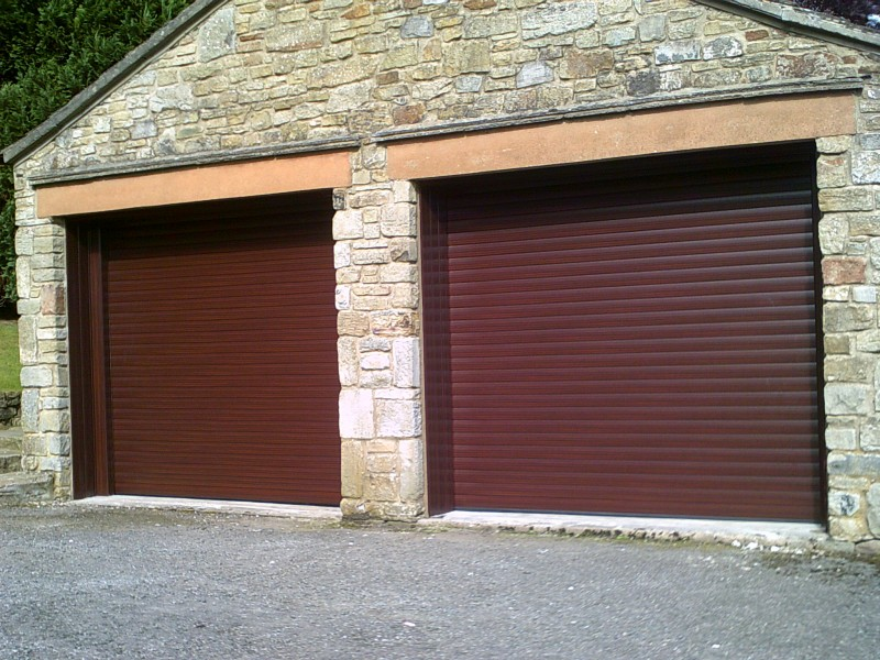 Rosewood Seceuroglide Remote Control Insulated Roller Garage Doors (After)