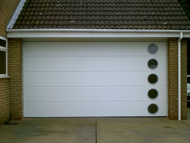 White Sectional Door With Windows Abbey Garage Doors