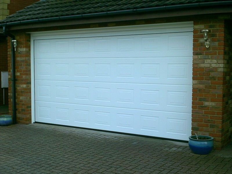 Double Sectional Georgian Garage Door (After)