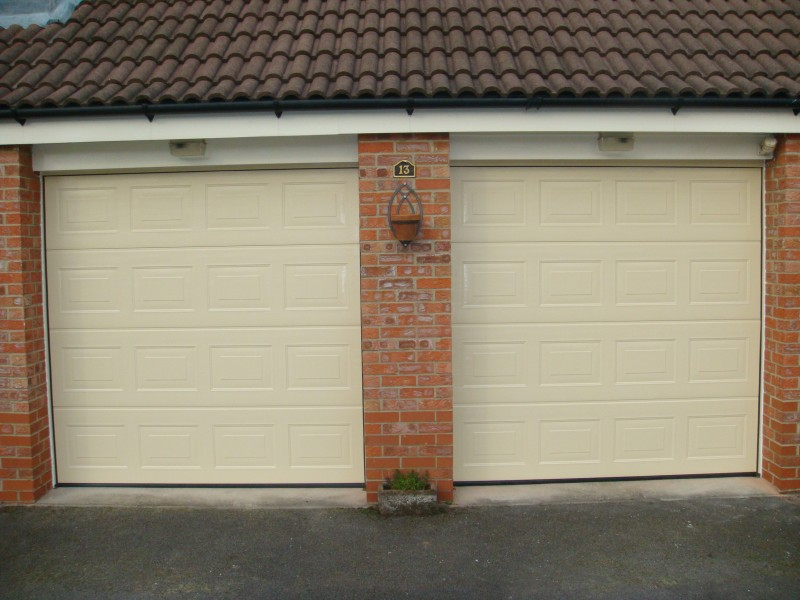 Cream Insulated Sectional Garage Doors (After)