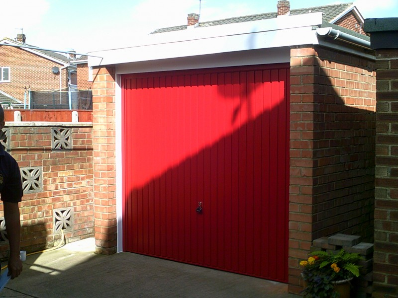 Red Up and Over Garage Door (After)