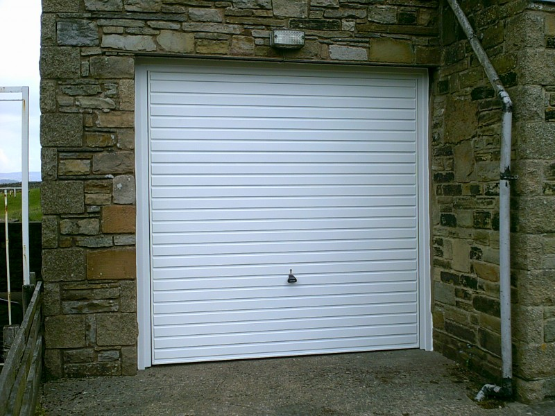 Horizontal Rib Style Up and Over Garage Door (After)