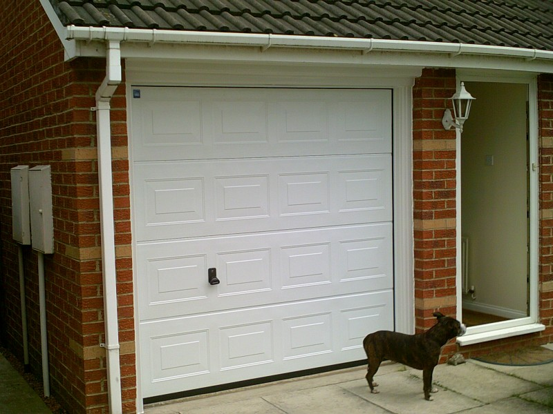 Georgian Style Sectional Garage Door (After)