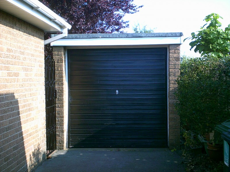 Georgian style Up and Over Garage Door (Before)