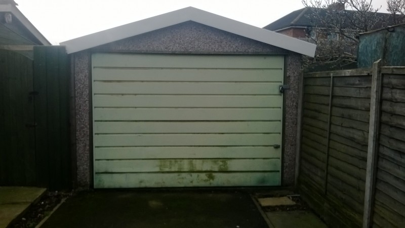 Garador Insulated Sectional Door (Before)