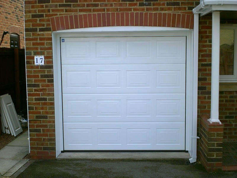 White Sectional Door in Guisborough (After)
