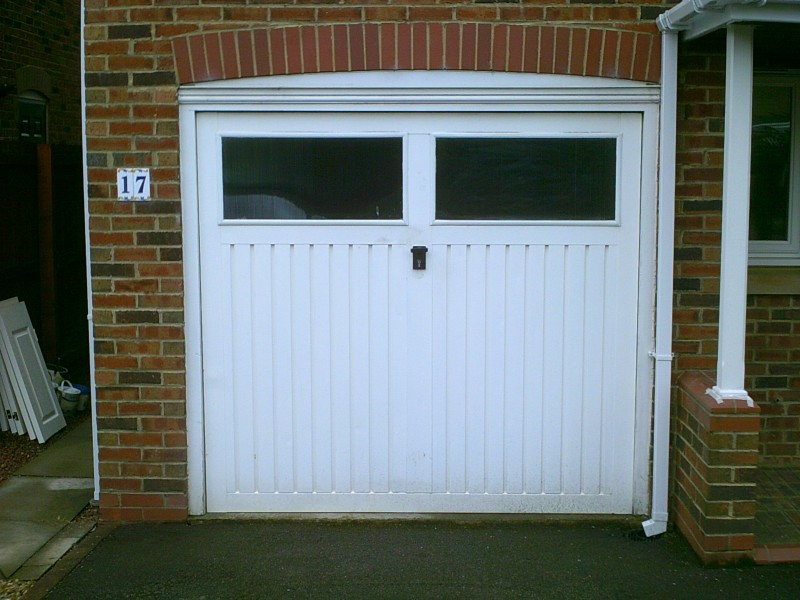 White Sectional Door in Guisborough (Before)