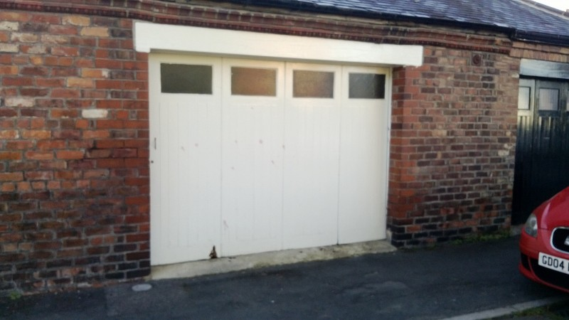 Black Insulated Roller Garage Door (Before)
