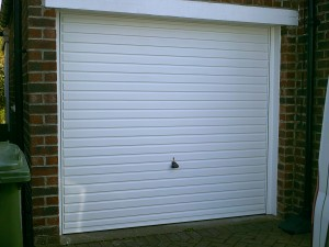 Garador White Horizon Up and Over Garage Door (After)