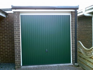 Green Carlton Garage Door (After)