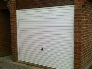 White Horizon Up and Over Garage Door (After)