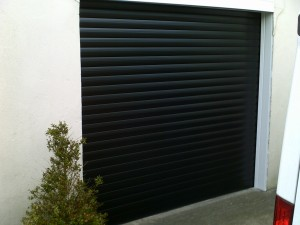 Black Insulated Roller Garage Door (After)