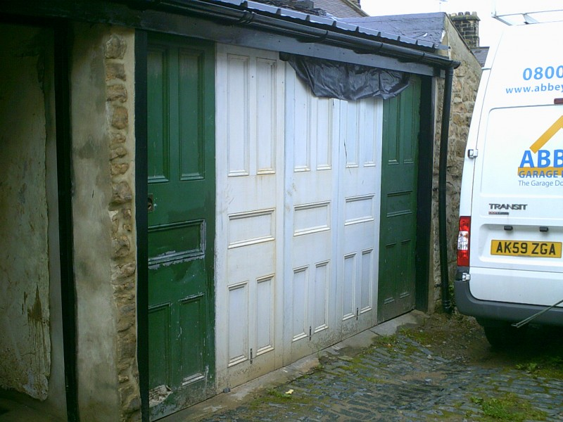 Insulated Sectional Garage Door (Before)