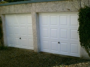 White Georgian Garage Door (After)