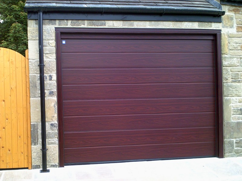 Rosewood Sectional Garage Door (After)