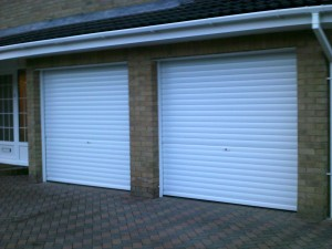 White Manual Insulated Roller Garage Doors (After)
