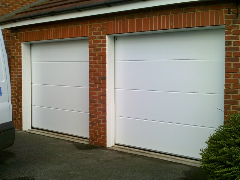 Two Insulated Sectional Garage Doors (After)