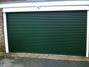 Green Insulated Roller Garage Door (After)
