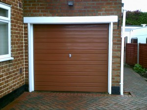Terracotta Single Skin Roller Door (Before)