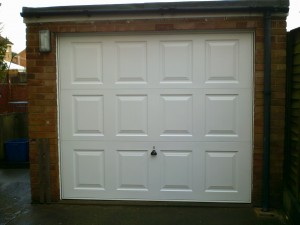 White Georgian Up and Over Garage Door (After)
