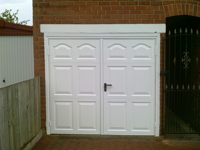 Side Hinged Cathedral Style Garage Doors (After)