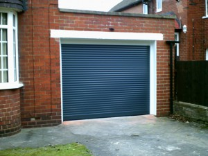 Anthracite Grey Insulated Roller Garage Door (After)