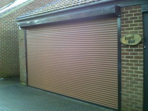 Smooth Finish Sectional Garage Door (Before)