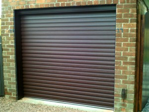 Rosewood Insulated Roller Garage Door (After)