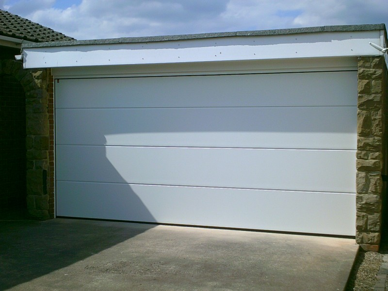 Double Size Sectional Garage Door (After)