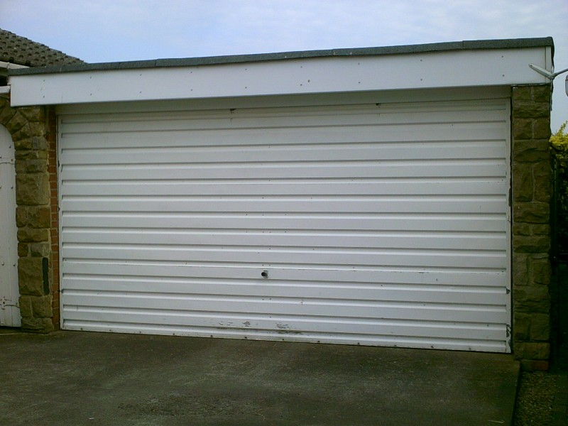 Double Size Sectional Garage Door (Before)