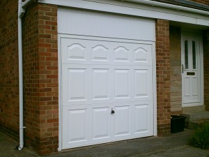 White Cathedral Garage Door (After)