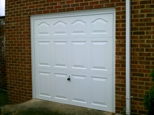 White Cathedral Up and Over Garage Door (After)