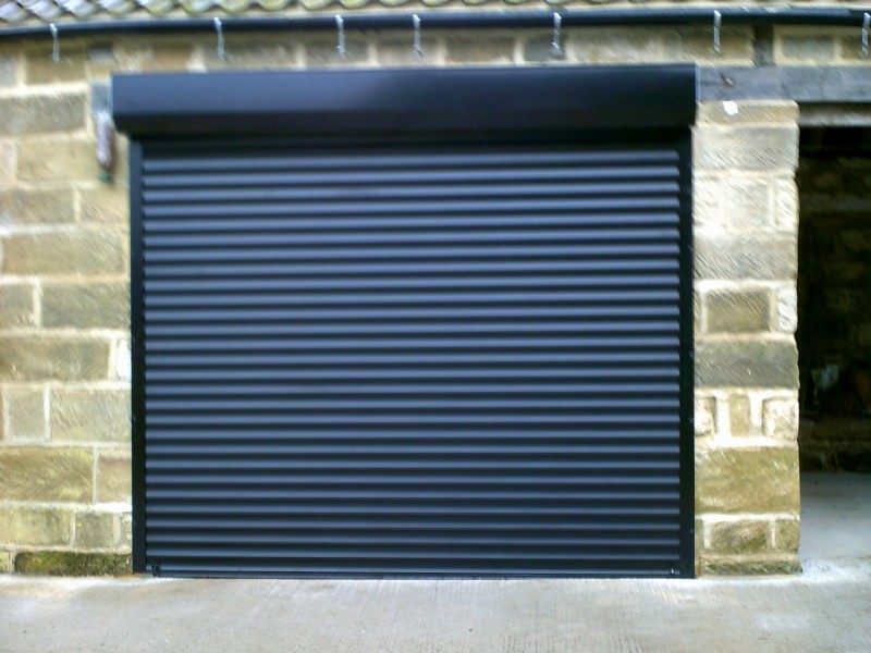 Black External Fit Insulated Roller Door (After)