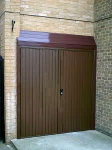 Brown Side-Hinged Garage  Door (After)