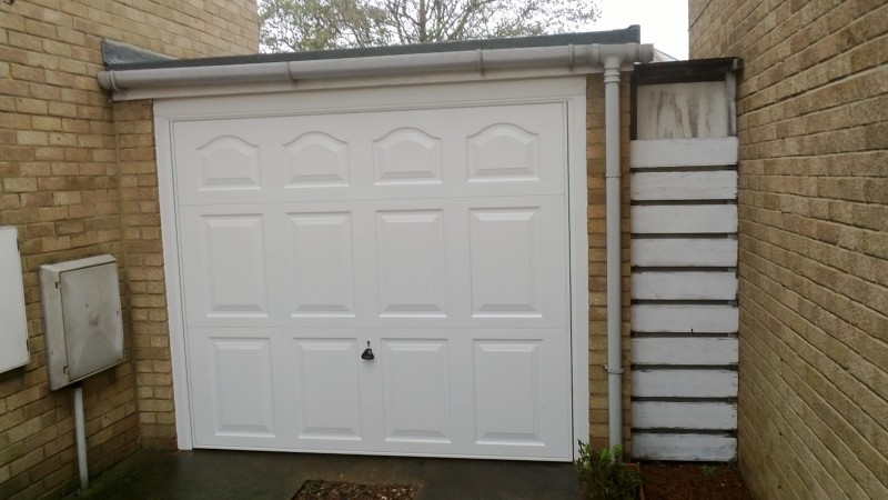 White Up and Over Garage Door (After)