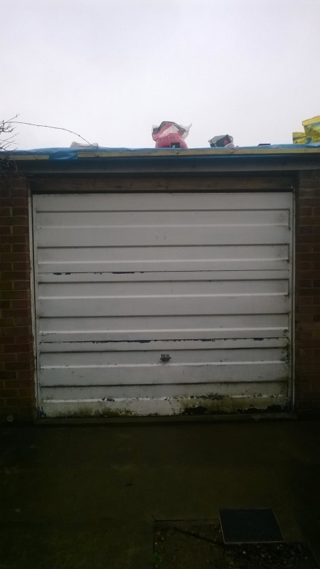 Side Hinged Garage Door (Before)