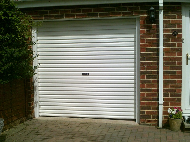 White Roller Garage Door (After)