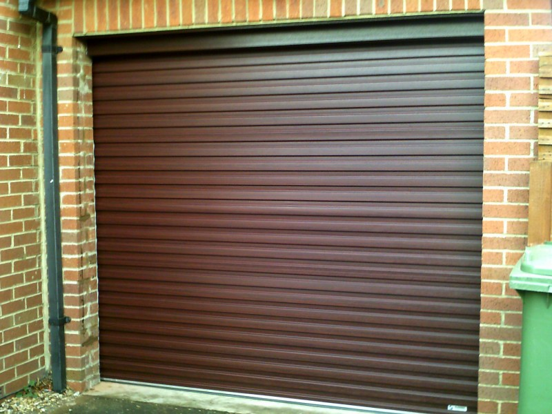 Rosewood Roller Garage door (After)