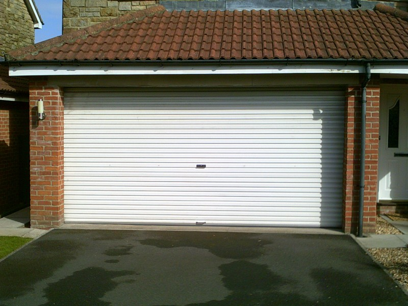 Anthracite Grey Sectional Garage Door (Before)